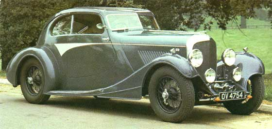 1931 Bentley then wearing the Triumph Flow Free body