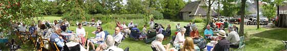 SVVS Picnickers at Church Farm, Horne