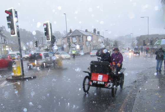 Torrential rain, cloudy, gloomy, cold and miserable.....               The 2012 London To Brighton Veteran Car Run
